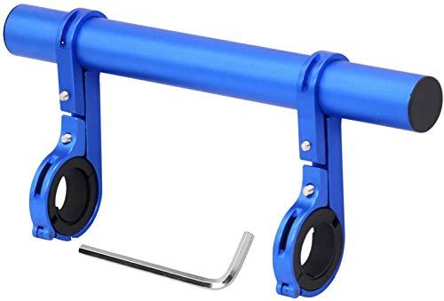 Extensor de manillar de bicicleta, barra de extensión de bicicleta Soporte de soporte de aleación de aluminio de doble abrazadera Accesorios de bicicleta para linterna Velocímetro para XIAOMI M365, Ninebot ES1 ES2, Bicicleta de montaña