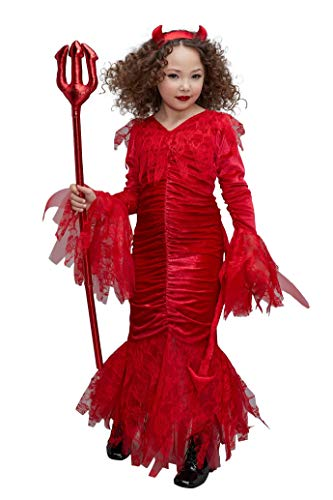 Chasing Fireflies Sweet Devil Costume for Girls Red ()