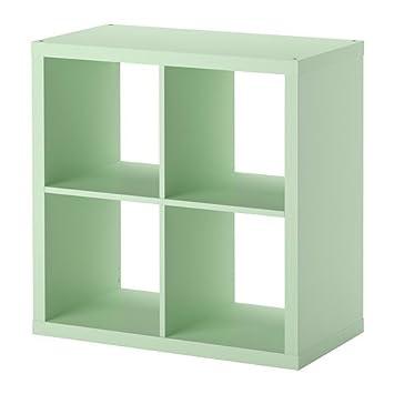IKEA Kallax Regal, grün, hellblau, 77 x 77 cm: Amazon.de: Küche ...