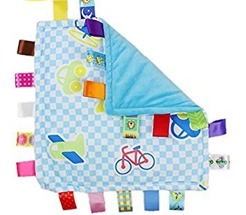 Taggies Colors Little Taggies Blanket, Blue Vehicles-Discontinued by Manufacturer