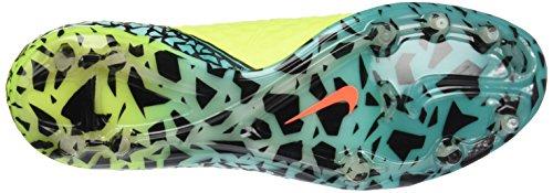 Nike Mens Hypervenom Phantom Ii Fg Volt / Black Hyper / Turq Voetbalschoenen 12.5 Us