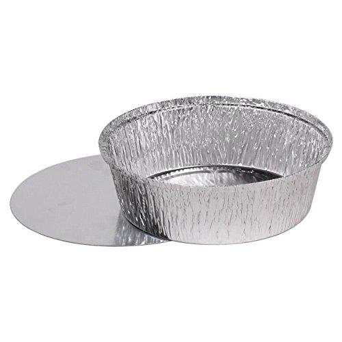100 bandejas de aluminio redonda con tapa modelo