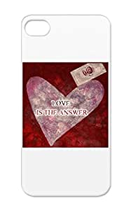 Blinger Hearts Typography Love Artblinger Positive Encouragement Art Answer Love Anti-shock Red Cover Case For Iphone 5s Is The Answer