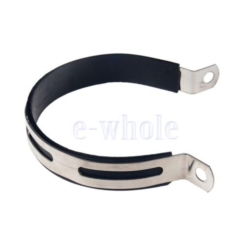 Gozebra(TM) Motorcycle Exhaust Muffler Silencer Can Hanger Hanging Clamp Strap Bracket ()