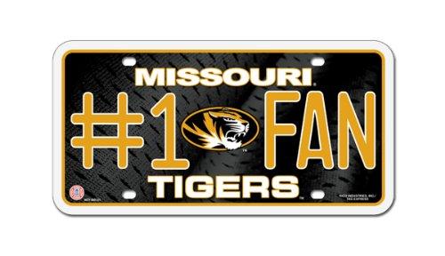 NCAA Missouri Tigers #1 Fan Metal Auto Tag
