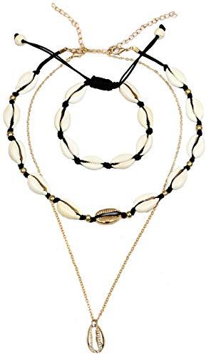 Beach Themed Costumes Ideas - 3PCS Adjustable Seashell Necklace Choker Set