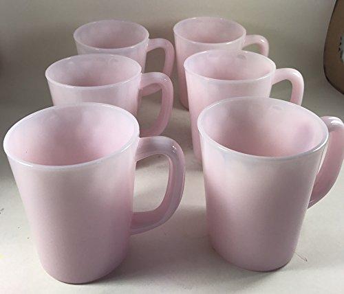 Glass Coffee Mug - USA - American Made (6, Crown Tuscan Pink)