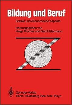 Book Bildung und Beruf: Soziale und ökonomische Aspekte (German Edition)