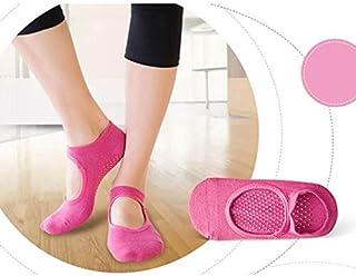 HATCHMATIC 1pair Orts Chaussettes Une Bonne flexibilité en Mesure Chaussettes de Yoga de Coton pour Dance Fitness ortswear Balle Accessoires Taille: pour 34-39 Rose Rouge