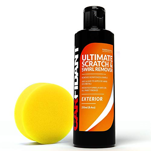 Carfidant Scratch and Swirl Remover - Ultimate Car Scratch Remover - Polish & Paint Restorer - Easily Repair Paint Scratches, Scratches, Water Spots! Car Buffer Kit (Best Way To Repair Paint Chips On Your Car)