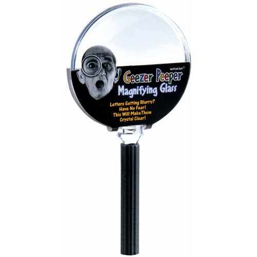[The Party Continuous Adult Birthday Party Senior Moments Magnifying Glass , Black/Silver , 5 5/8