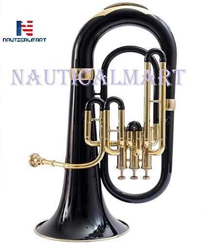 NauticalMart Bb Euphonium 3 Valve - Black