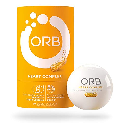(ORB Heart Complex - Time-Released COQ10 |24-Hour Heart-Health Support, Supports Cardiovascular Health, Supports Healthy Blood Pressure, Antioxidant Support - 30 Count )
