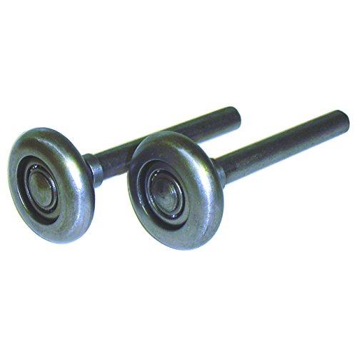 Ideal Garage Door (Ideal Security Inc. SK7121 Steel Garage Door Rollers 2 inch Wheels with 10 Ball-Bearings, 4 inch stem, 2-Pack, Durable)
