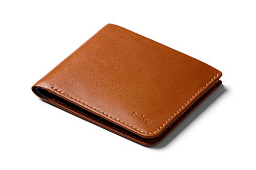 Bellroy Square Wallet, slim leather wallet (Max. 12 cards and flat bills) Caramel