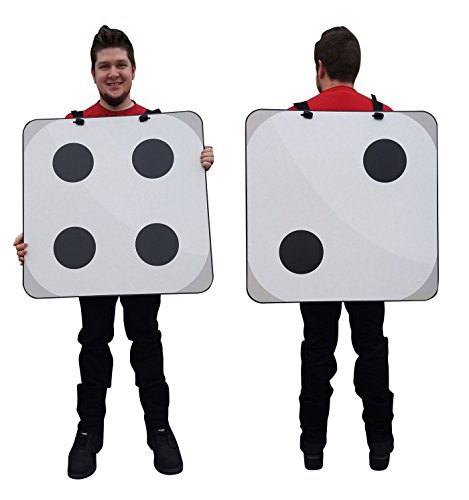 2D Dice Costume - Advanced Graphics Cardboard Costume (Dice Costumes)