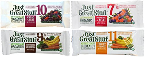 Betty Lou's Just Great Stuff Bars Variety Pack, Four Flavors, 12 Bars