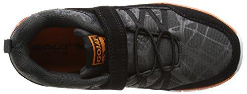 Gola Luna Velcro, Zapatillas de Deporte Para Exterior Para Niños Negro (Black/charcoal/orange)