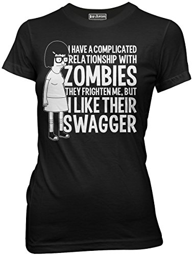 Bob's Burgers Tina Zombie Swagger Juniors T-shirt