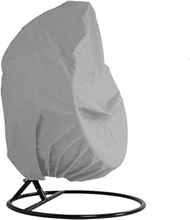 Amazon Com Skyfiree Patio Hanging Chair Cover Double Wicker Egg Swing Chair Cover Waterproof Garden Outdoor Pod Chair Swingasan Cover 91x80 Inches Grey Furniture Decor