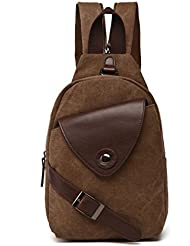 WFTBDREAM Sling Backpack Canvas Chest Fanny Pack Cossbody Bags For Men