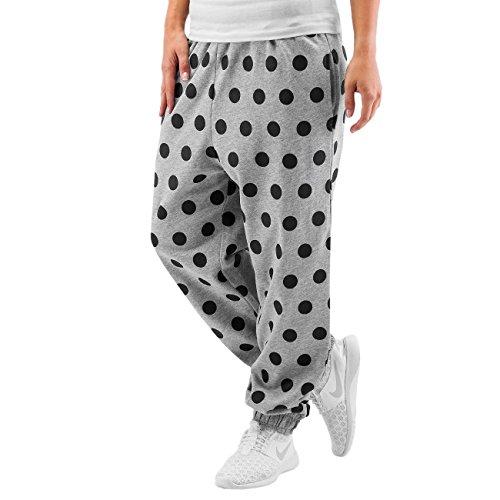Just Rhyse Mujeres Pantalones / Pantalón deportivo Dots gris