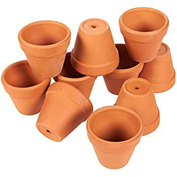 10 mini 1 3 4 clay pots great for plants for Small clay pots