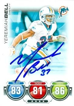 Yeremiah Bell autographed Football Card (Miami Dolphins) 2010 Topps (Yeremiah Bell)