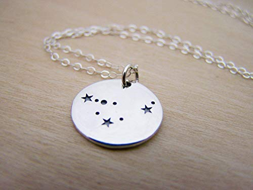 - Capricorn Zodiac Constellation Necklace - Sterling Silver - Astrology Necklace - Gift for Her