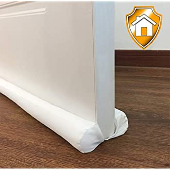Moves with The Door MAXTID 38 Door Snake Draft Stopper Animal Door Sound Blocker Reduce Cold Air Noise Smell with Handles for Bottom Door Draft Dodger Protector Pink Unicorn
