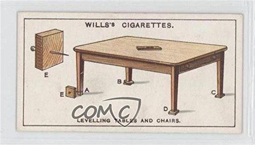 Levelling Tables And Chairs (Trading Card) 1927 Wills Household Hints - Tobacco [Base] #44