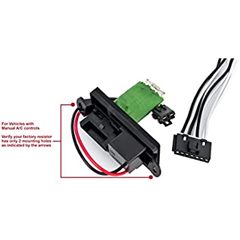 amazon com ac blower motor resistor kit with harness blower motor relay wiring diagram chevrolet 7 wire blower motor resistor