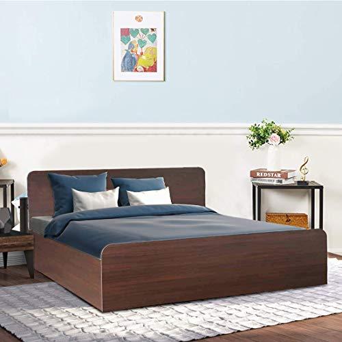 Adonica Queen Engineered Wood Bed With Storage     Brown