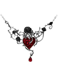 Bed Of Blood-Roses Pendant Necklace - Handmade in England by Alchemy Gothic
