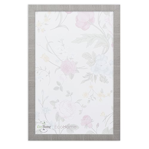 EcoHome 11x17 Picture Frame - Modern Gray - with Pre-Installed Wall Mounting Hardware, for Posters and Photo by Eco-home