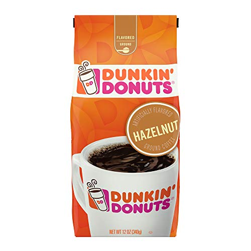 Dunkin' Donuts Hazelnut Flavored Ground Coffee,12 Ounce