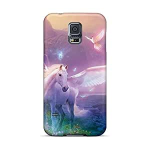 Protector Hard Cell-phone Case For Samsung Galaxy S5 (GNh25378AhFZ) Custom Lifelike Pegasus Skin