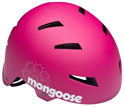 Mongoose Youth Street Hardshell Helmet, Pink Review