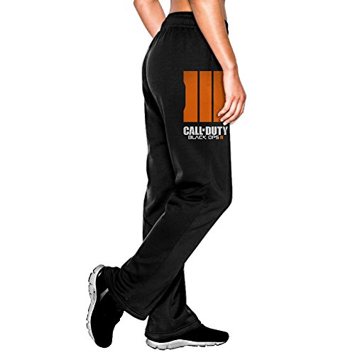 Price comparison product image TNTG Women's Call Of Mane Duty Black Ops Iii ComfortableCamper Vintage Sweatpants Leisure Wear Size M Black