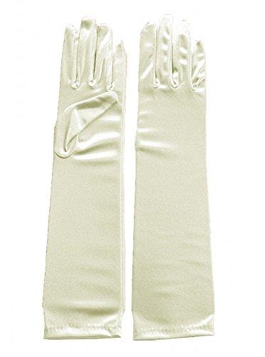Miranda's Bridal Women's Wedding Formal Satin Gloves Costume Glove Ivory