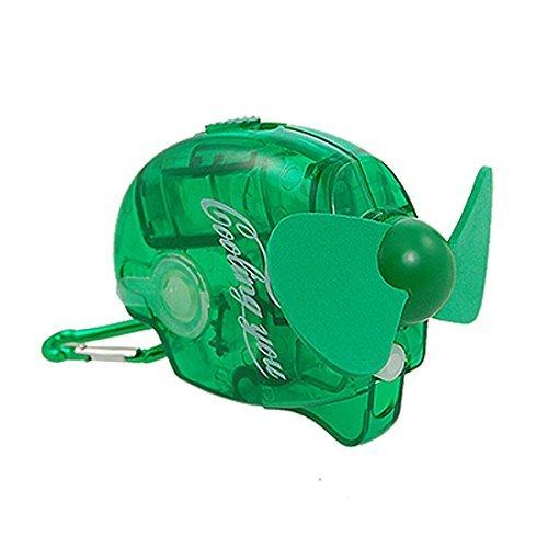 Water & Wood Green Portable Safe Foam Blade Mini Water Spray Cooling Fan
