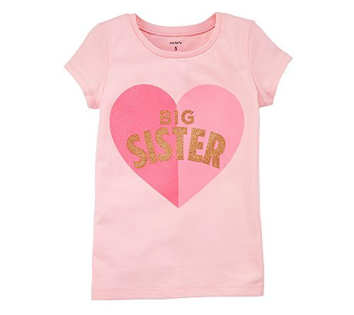 Carter's Girls' 4-8 Big Sister Jersey Tee 6-6X
