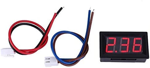 red with overcurrent protection Digital DC current ammeter high precision mini LED panel with two wires 0-10A
