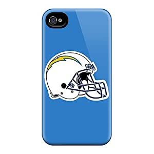 88bestcase Apple Iphone 4/4s High Quality Cell-phone Hard Cover Allow Personal Design Stylish San Diego Chargers Pattern [JBT2629cKFz]
