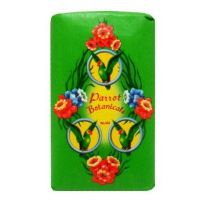 Parrot Botanicals Soap Green No.333 Long Lasting Fragrance Net Wt 80 G X 4 Bars Original by jofalo (Bar 333)