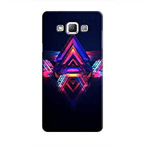 Cover It Up - Abstract Red&Blue Galaxy A7 Hard Case