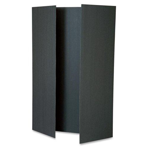 Wholesale CASE of 5 - Pacon Tri-fold Foam Presentation Boards-Tri-Fold Presentation Boards, 48''x36'', 12/CT, Black