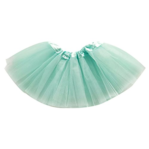 Dreamdanceworks Little Girls Baby & Toddler Tulle Tutu Skirt for 0-2 Years (Aqua (Mardi Gras Outfits Plus Size)