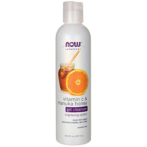 NOW Vitamin C and Manuka Honey Cleanser, 8-Ounce