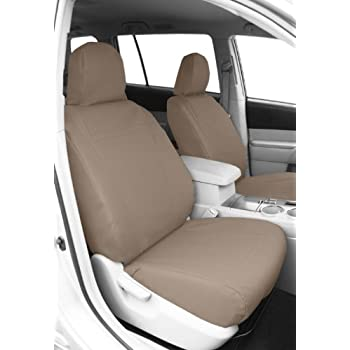 Caltrend Front Row Bucket Custom Fit Seat Cover For Select Ford Expedition Models Duraplus Beige